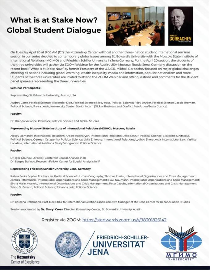 Flyer of the trilateral online webinar